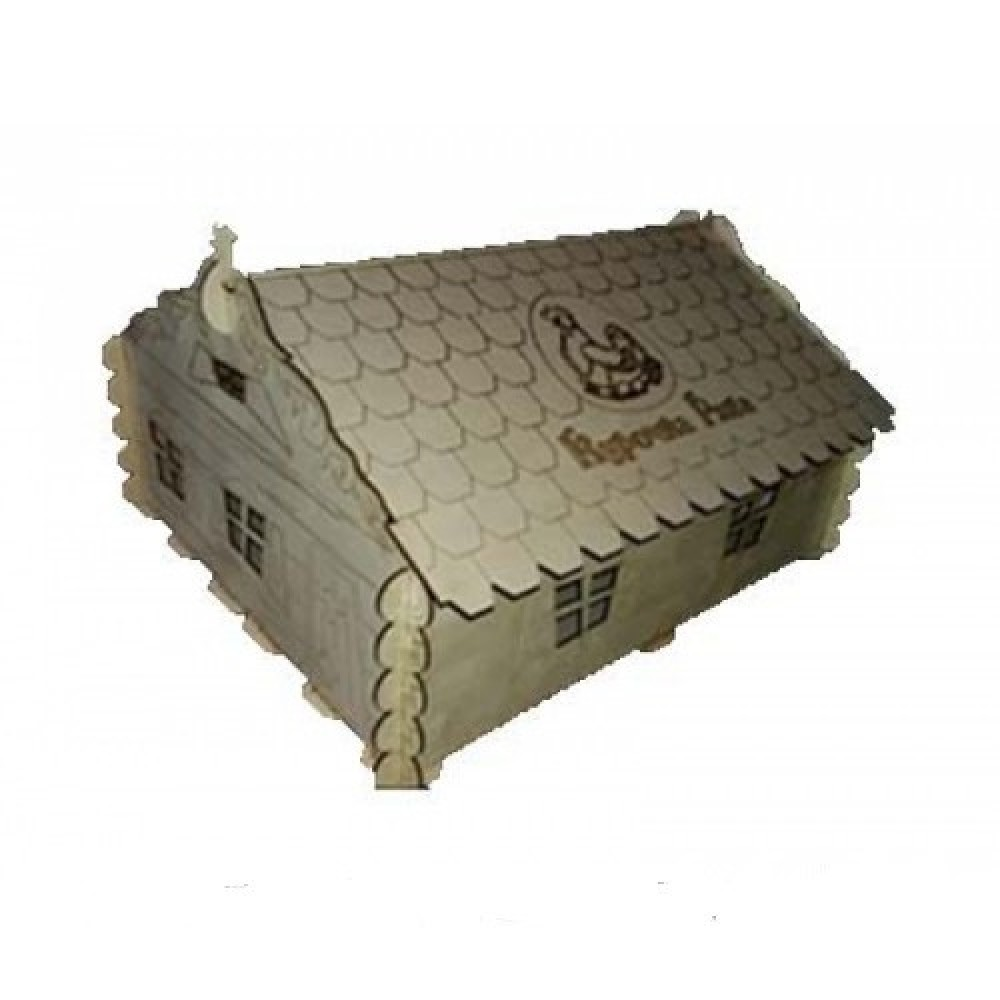 Ясли-брудер Курочка Ряба для цыплят - деревянный домик