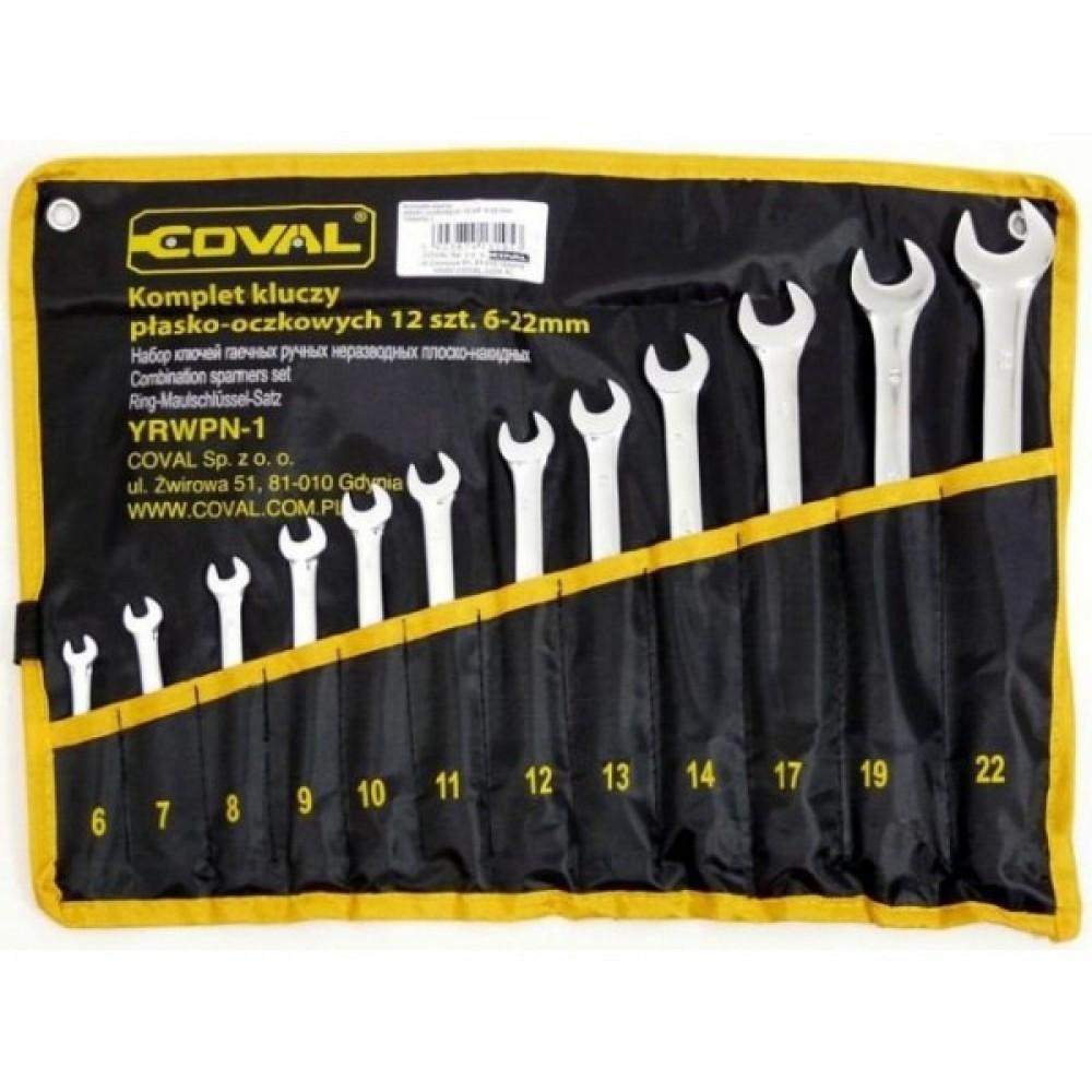 Набор рожковых накидных ключей Coval 6-22 мм 12 элементов