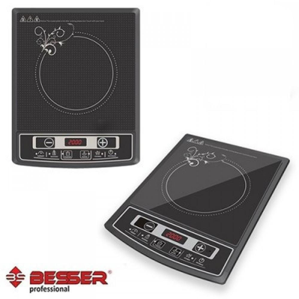Индукционная электроплита Besser 10337, 2000 Ватт, керамическая
