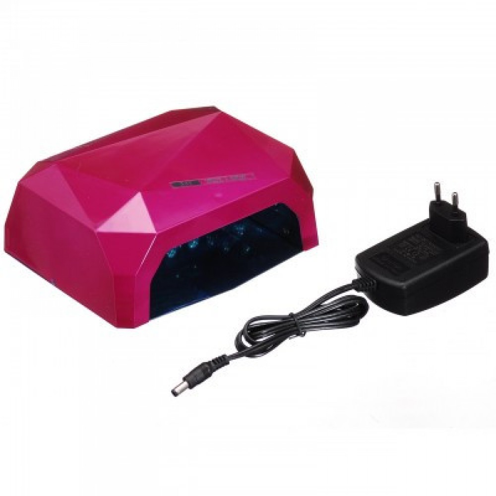Лампа гибридная Beauty nail 36W CCFL+LED, малиновая