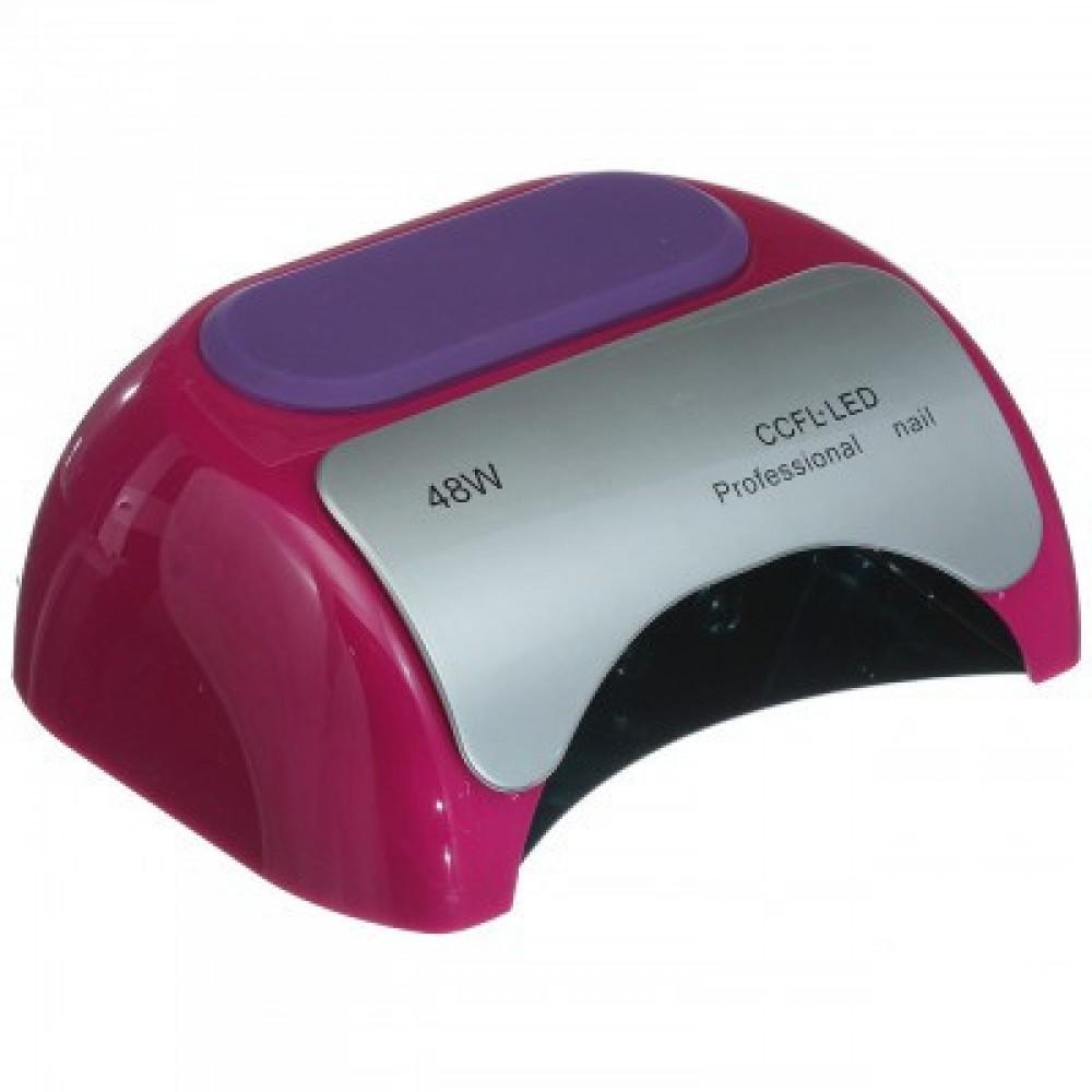 Лампа гибридная Beauty nail K18 48W CCFL+LED, малиновая