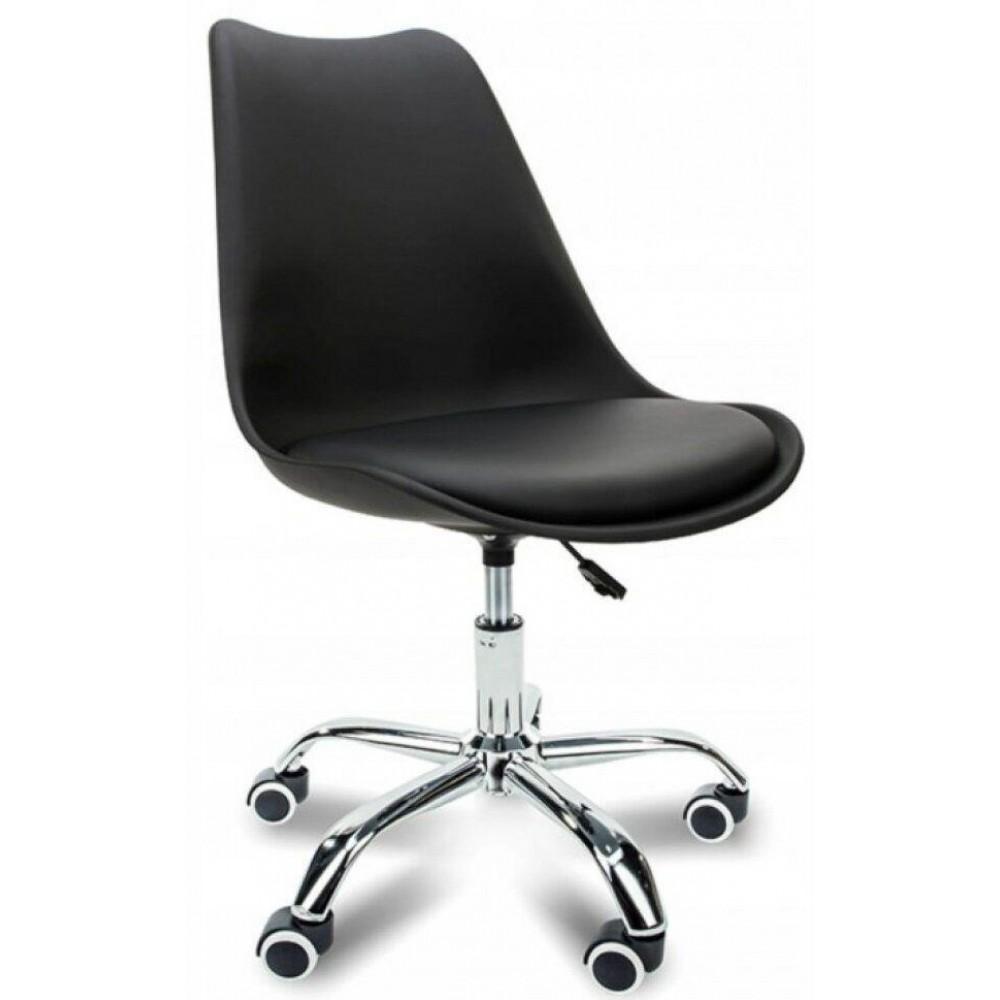 Кресло Bonro B-487 на колесах черное