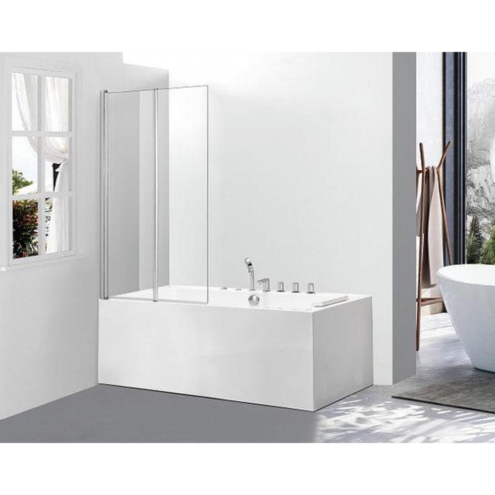 Стеклянная шторка для ванны Avko Glass 542-2 120x140 Clear