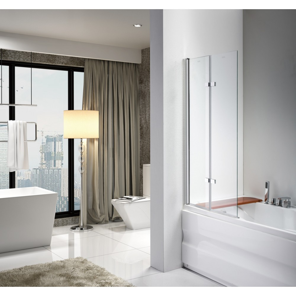 Стеклянная шторка для ванны Avko Glass 542-2 100x140 Frosted
