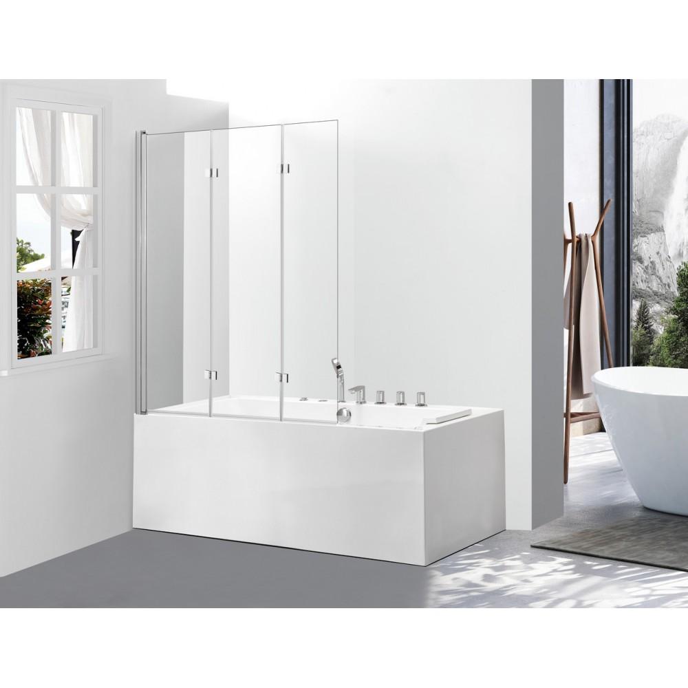 Стеклянная шторка для ванны Avko Glass 542-7 100х140 Clear