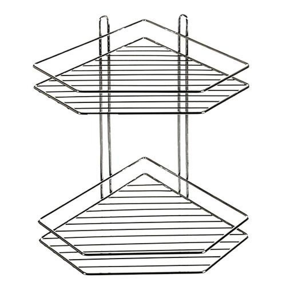 Полка в ванную Stenson угловая 20.5х20.5х33.3 см (MH-1981)
