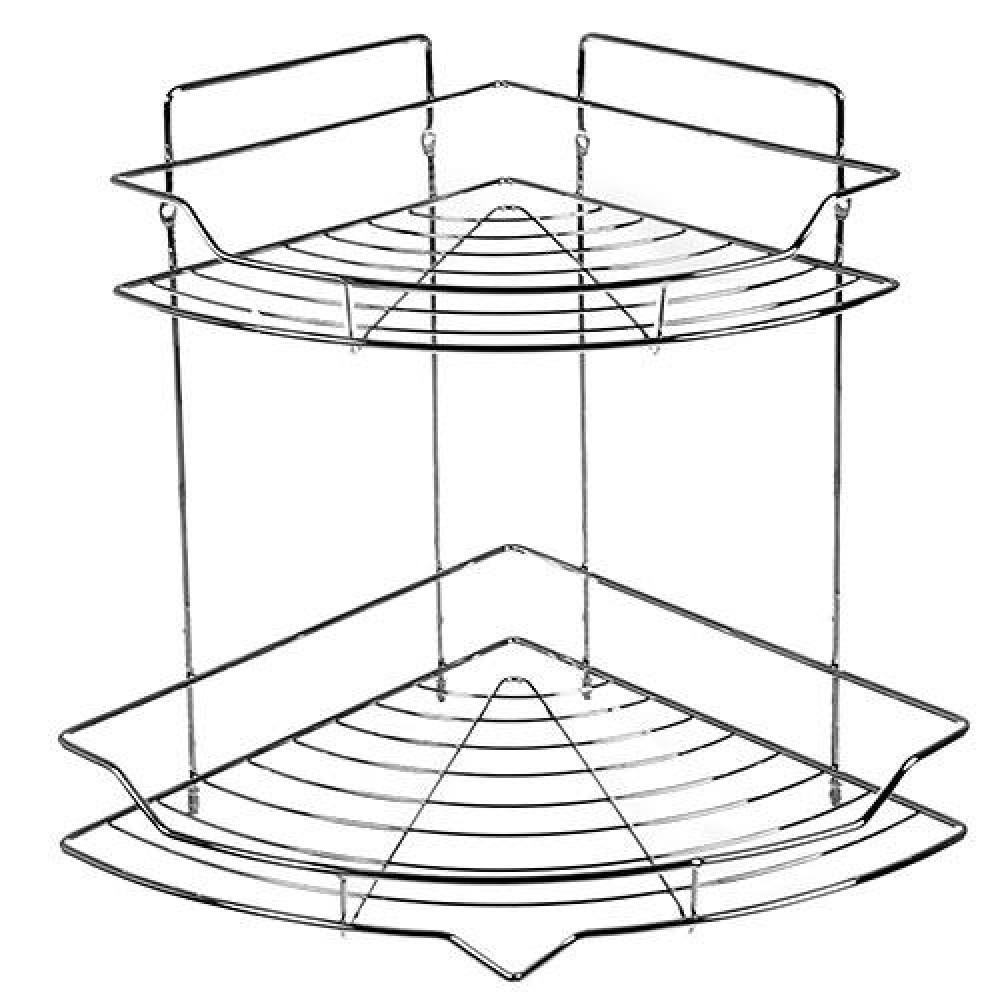 Полка в ванную Stenson угловая 25.5х25.5х32.8 см (MH-1970)