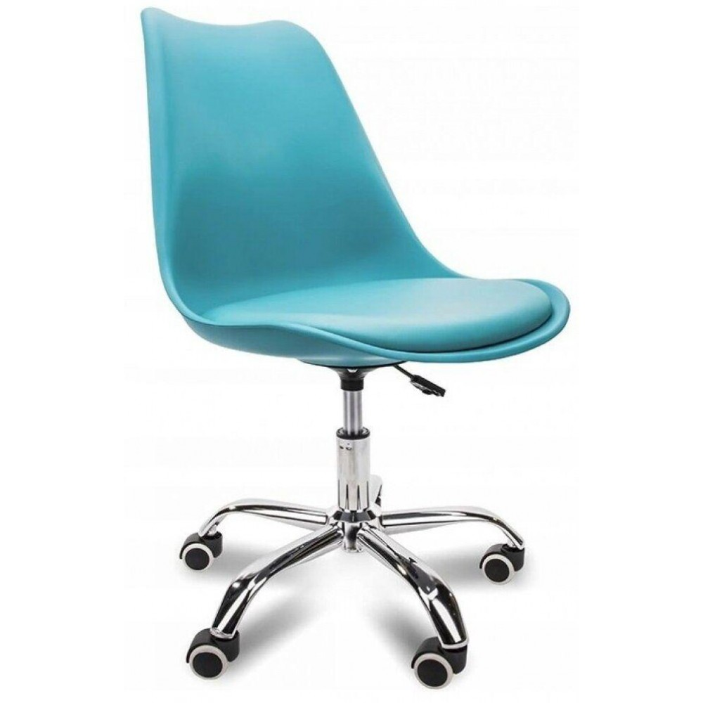 Кресло Bonro B-487 на колесах синее