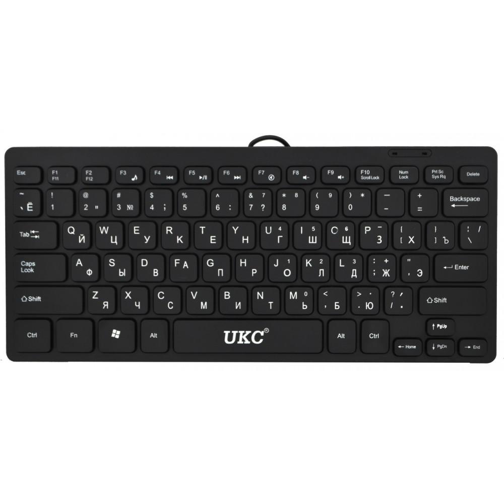 Клавиатура мини проводная UKC K1000 Black 2549