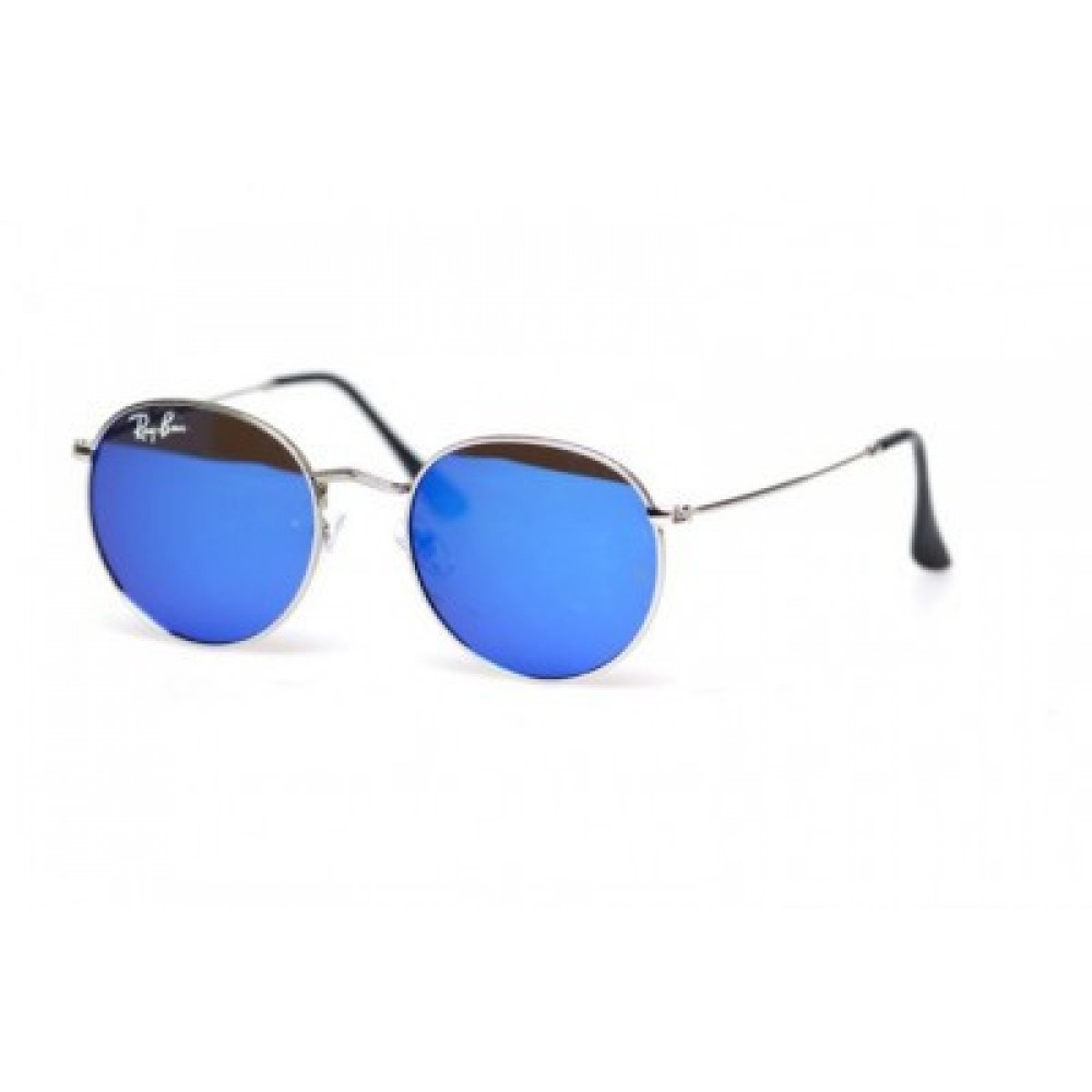 Солнцезащитные очки Ray Ban Round Metal 6002-Blue, унисекс