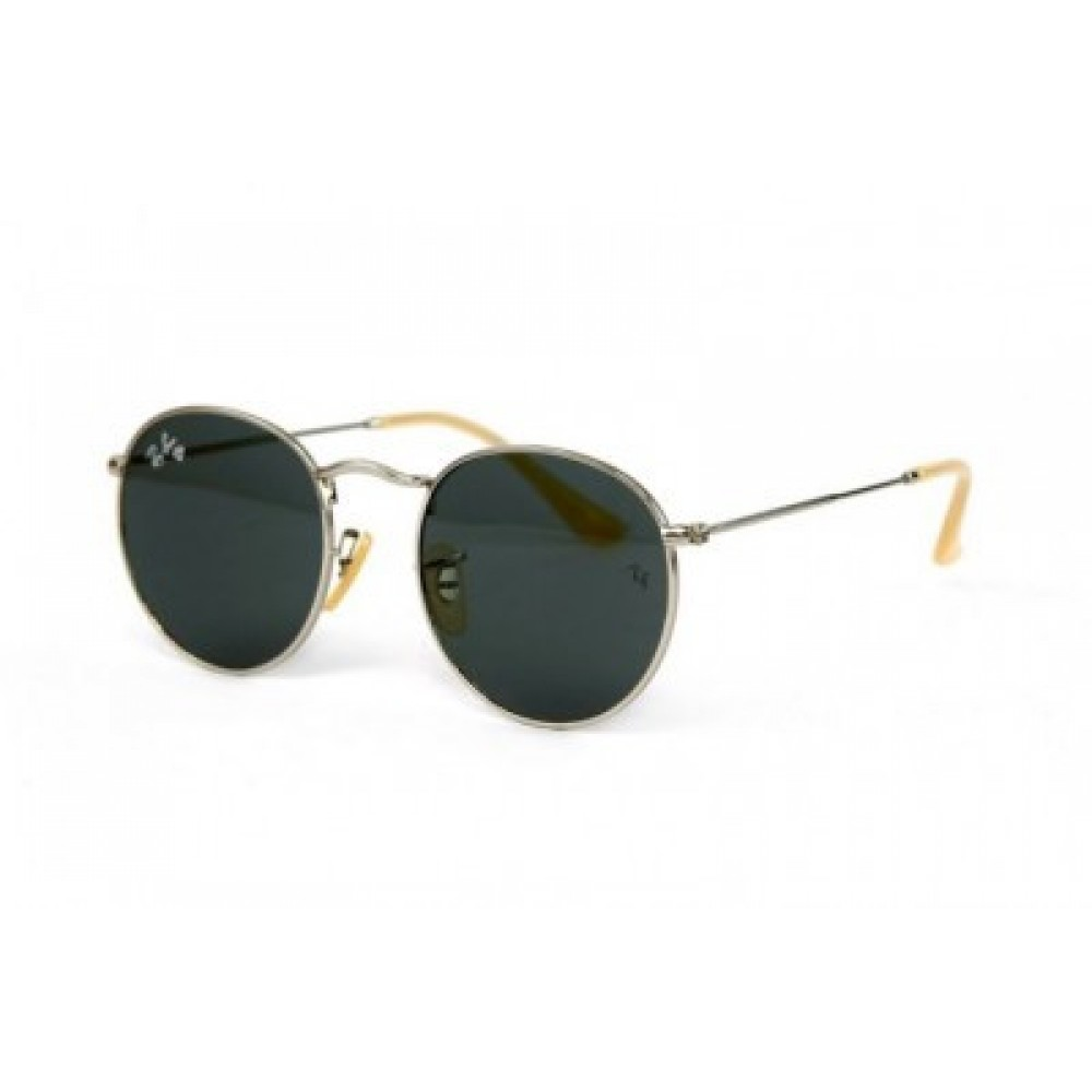 Солнцезащитные очки Ray Ban Round Metal 3447-Black-S, унисекс