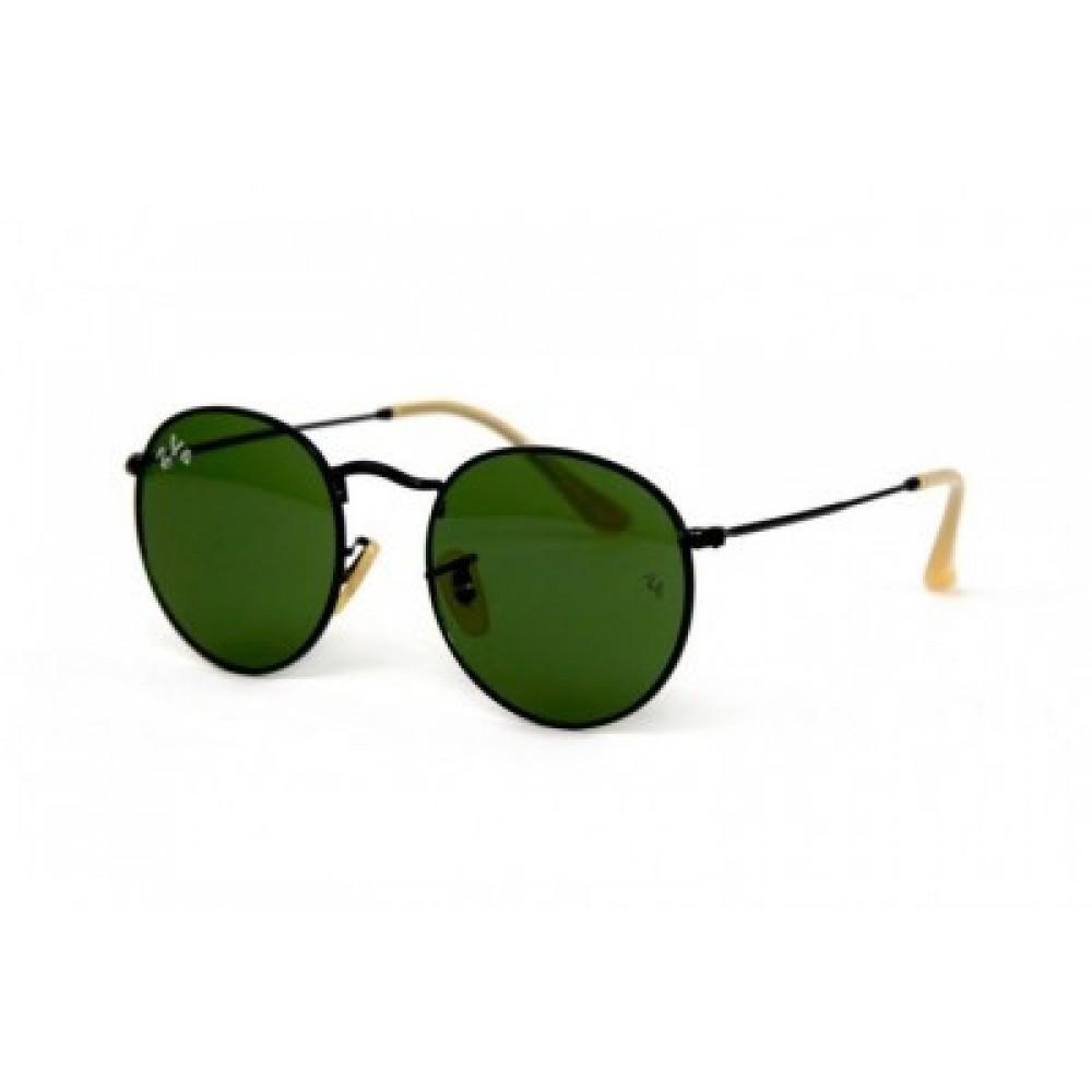 Солнцезащитные очки Ray Ban Round Metal 3447-Green-B, унисекс