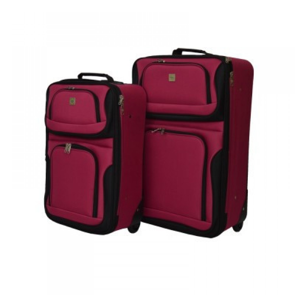 Набор чемоданов Bonro Best 2 шт, вишневый