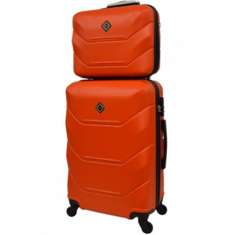 Комплект чемодан + кейс Bonro 2019 средний, оранжевый