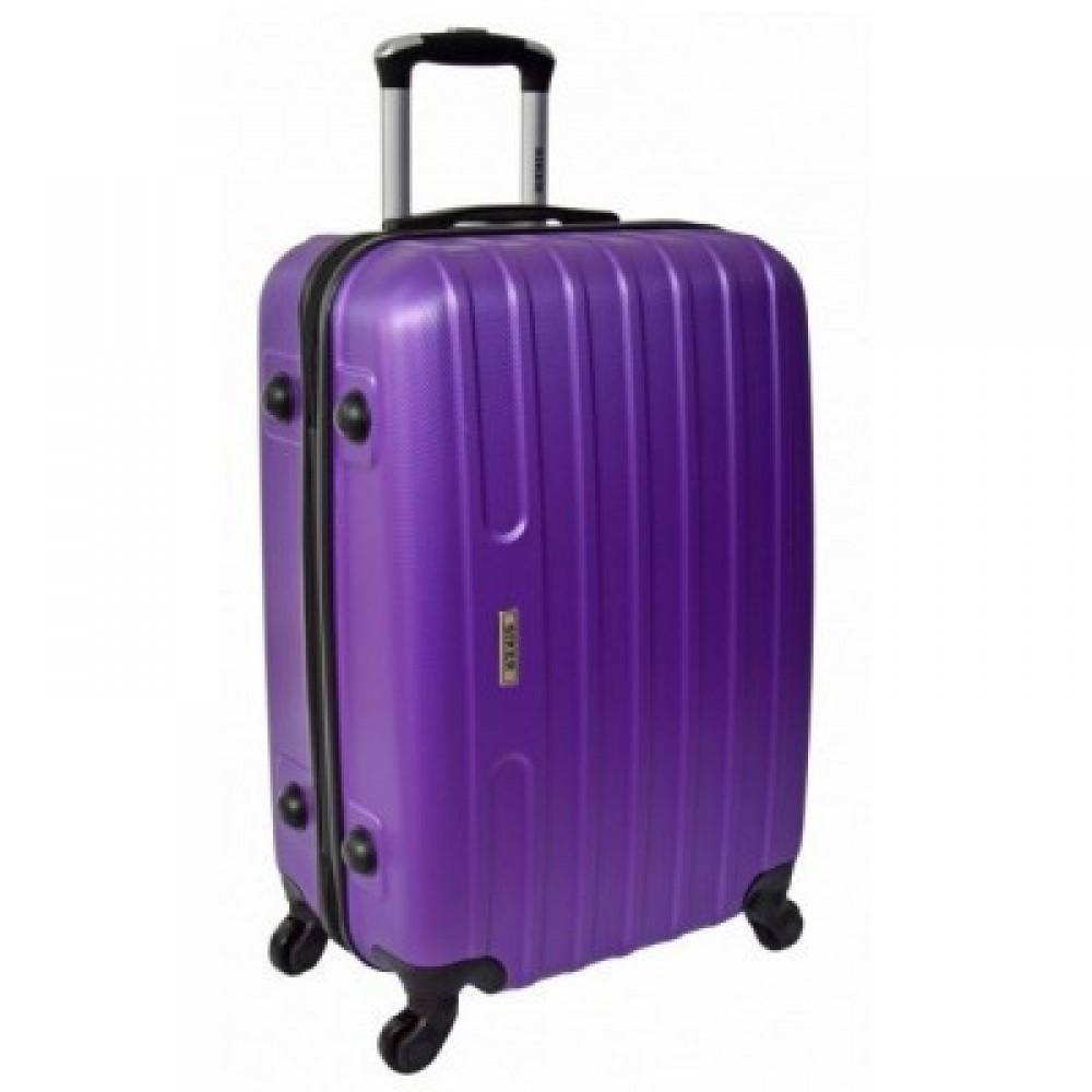 Чемодан Siker Line средний, фиолетовый