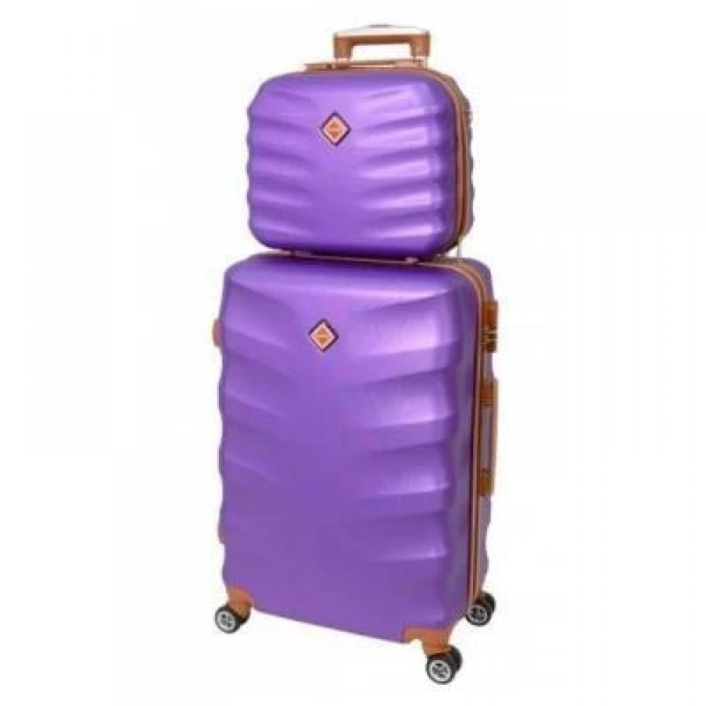 Комплект чемодан + кейс Bonro Next небольшой, фиолетовый