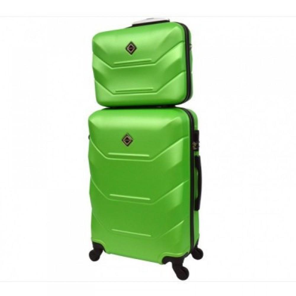 Комплект чемодан + кейс Bonro 2019 средний, салатовый