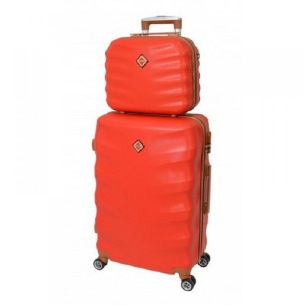 Комплект чемодан + кейс Bonro Next небольшой, красный