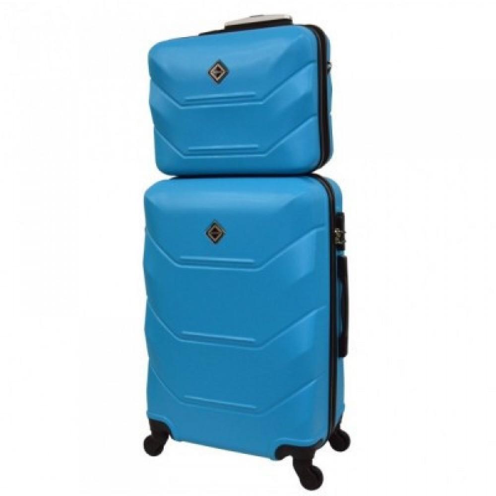 Комплект чемодан + кейс Bonro 2019 средний, голубой