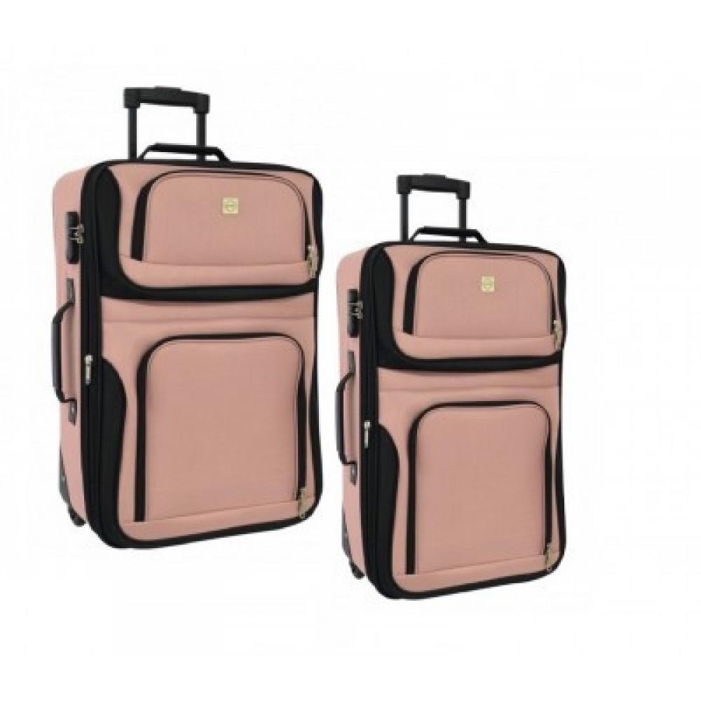 Набор чемоданов Bonro Best 2 шт, розовый