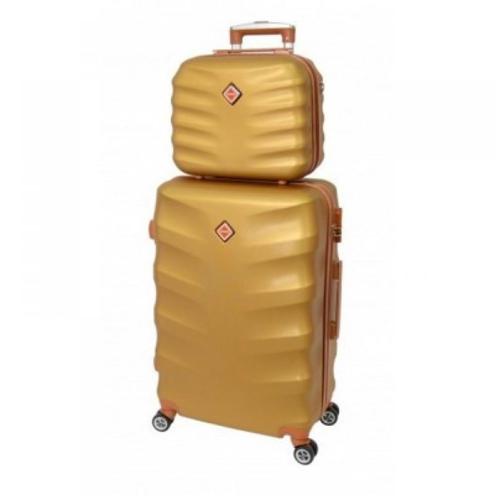 Комплект чемодан + кейс Bonro Next средний, золотой