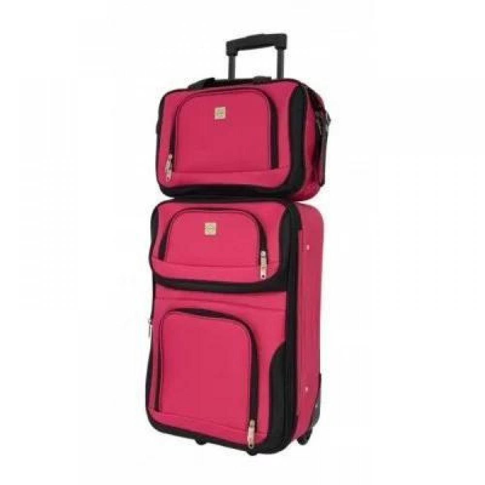 Комплект чемодан + сумка Bonro Best средний, вишневый