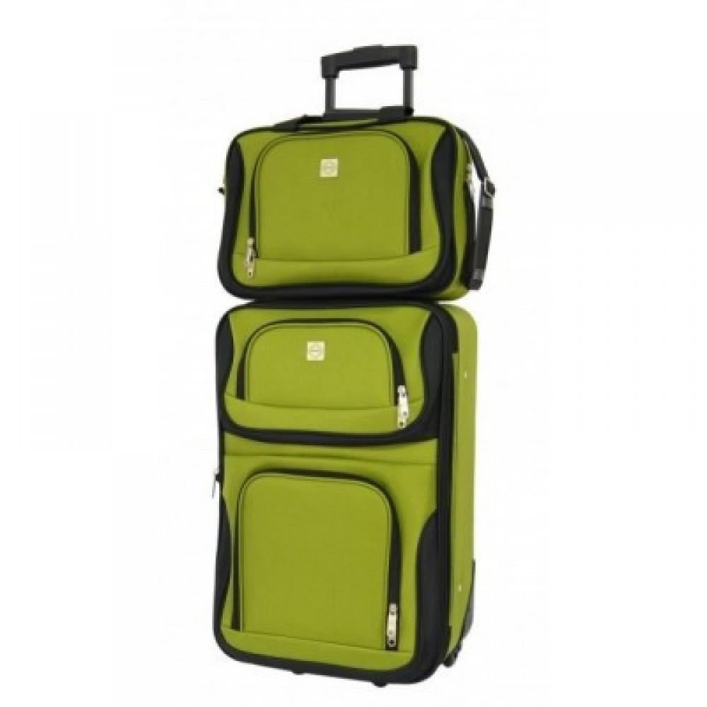 Комплект чемодан + сумка Bonro Best небольшой, зеленый
