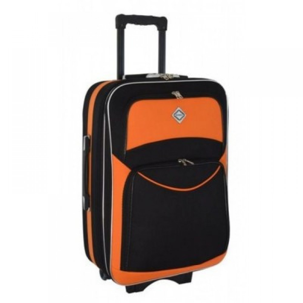 Чемодан Bonro Style дорожный небольшой, черно-оранжевый