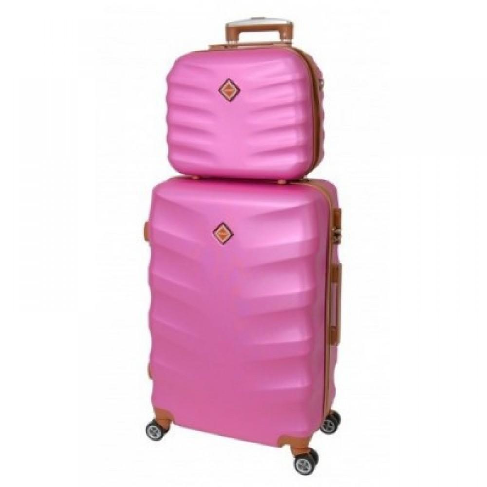 Комплект чемодан + кейс Bonro Next средний, розовый