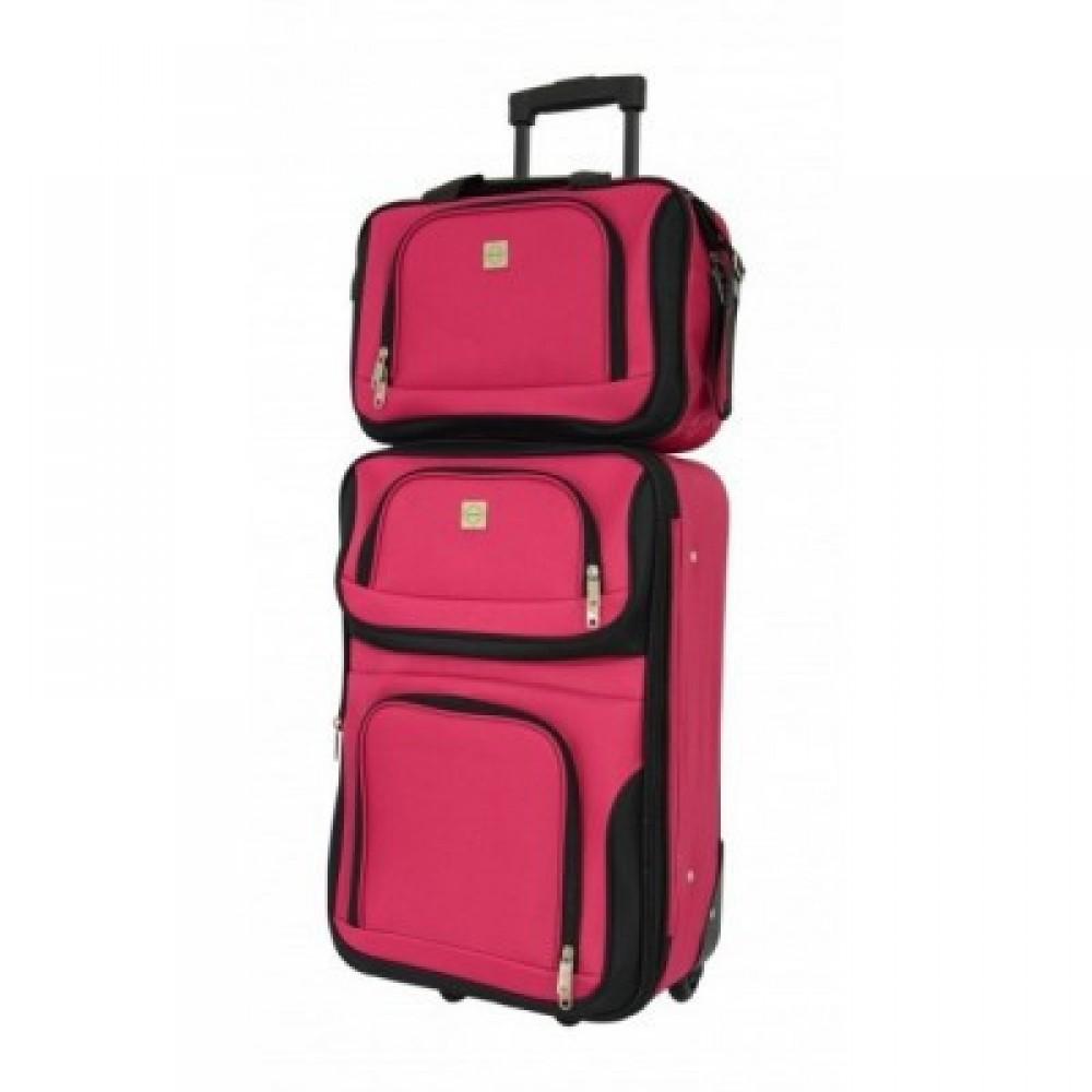 Комплект чемодан + сумка Bonro Best небольшой, вишневый