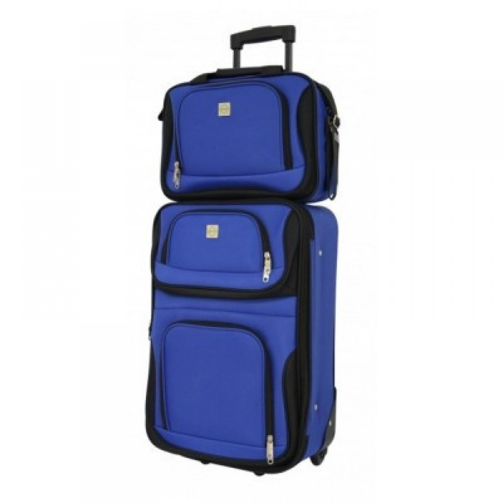 Комплект чемодан + сумка Bonro Best средний, синий