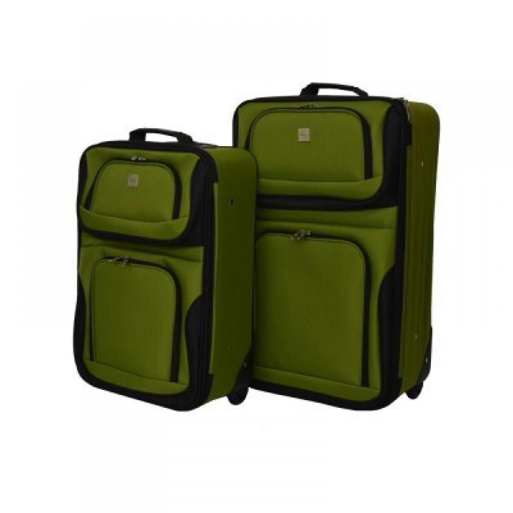 Набор чемоданов Bonro Best 2 шт, зеленый