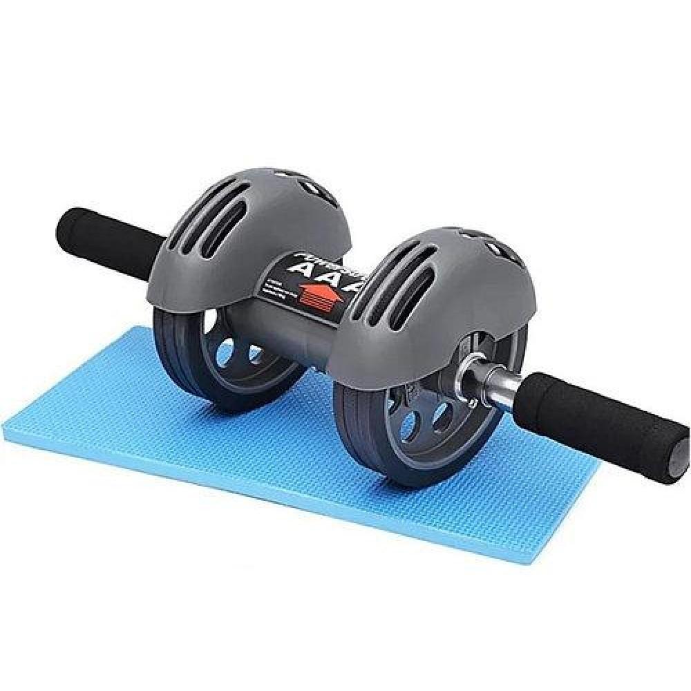 Тренажер колесо двойного действия Power Stretch Roller, гимнастический ролик с возвратом