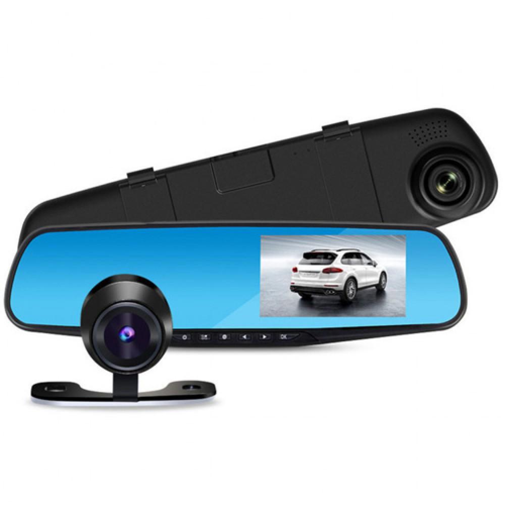 Автомобильный видеорегистратор зеркало Terra 9004 две камеры