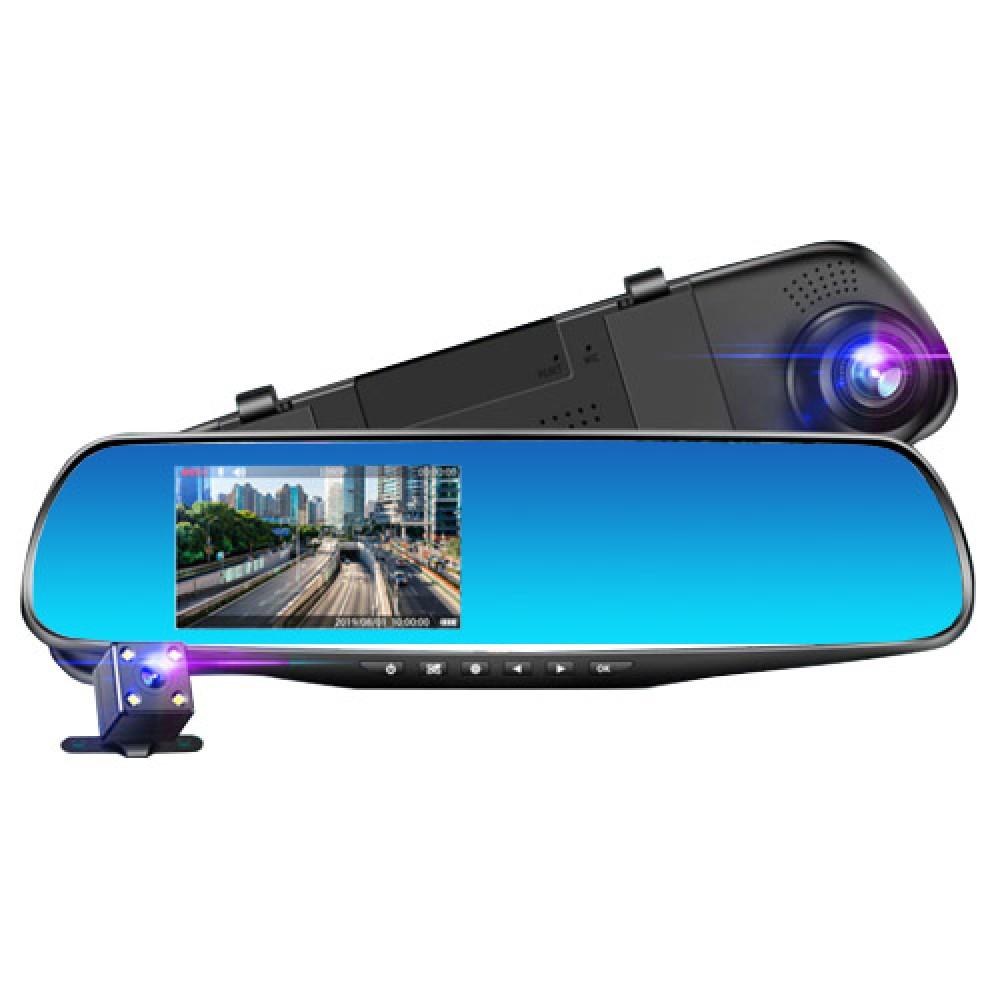 Автомобильный видеорегистратор зеркало Terra 9001